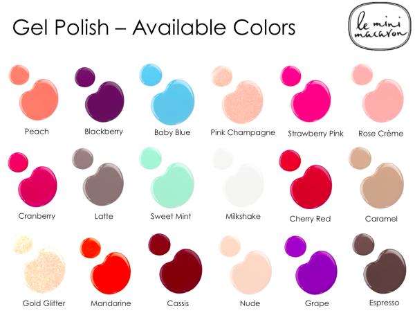 Gel polish farver - Le mini macaron