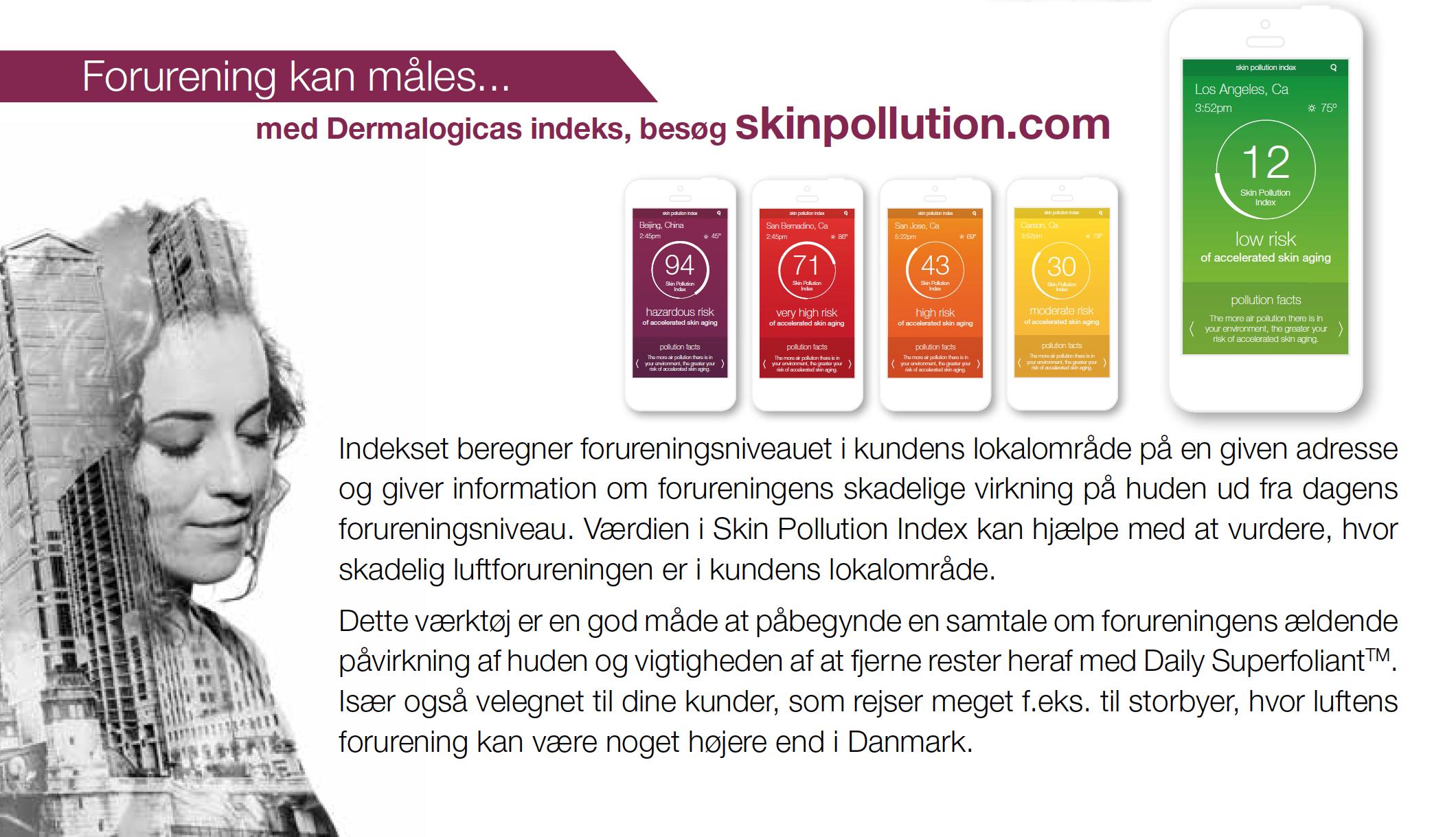 Måling af forurening i luften omkring dig - Dermalogica Skinpollution.com Lykke & velvære i Helsingør Nordsjælland