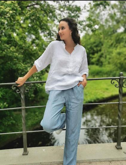 Sofie rose hørbluse Lykke & velvære By Lil forhandler i Helsingør Nordsjælland 1