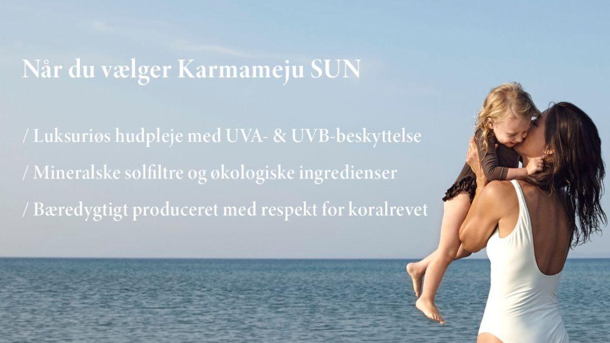Koralvenlig mineralsk fysisk solfilter Karmameju SUN Lykke & velvære Helsingør Nordsjælland