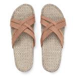 Shangies Orange stripes sandal forhandler Lykke & velvære Helsingør Nordsjælland