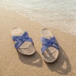Shangies Blue stripes sandal forhandler Lykke & velvære Helsingør Nordsjælland 2