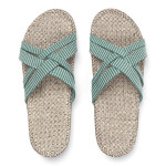 Shangies Green stripes sandal forhandler Lykke & velvære Helsingør Nordsjælland