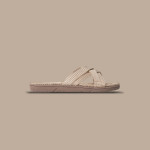 Shangies Beige Cream white sandal forhandler Lykke & velvære Helsingør Nordsjælland 1