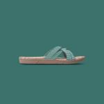Shangies Green stripes sandal forhandler Lykke & velvære Helsingør Nordsjælland 1