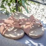 Shangies Orange stripes sandal forhandler Lykke & velvære Helsingør Nordsjælland 2