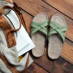Shangies Green leaves sandal forhandler Lykke & velvære Helsingør Nordsjælland 2