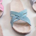 Shangies Green stripes sandal forhandler Lykke & velvære Helsingør Nordsjælland 3